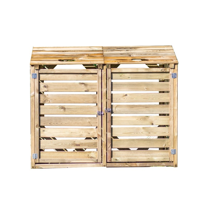 Copri bidoni per la raccolta differenziata in legno - Bidoni per differenziata casa ...