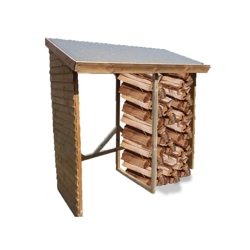 Legnaia in legno 280x110x208 h rb 280110 foresta rb for Legnaia con ripostiglio