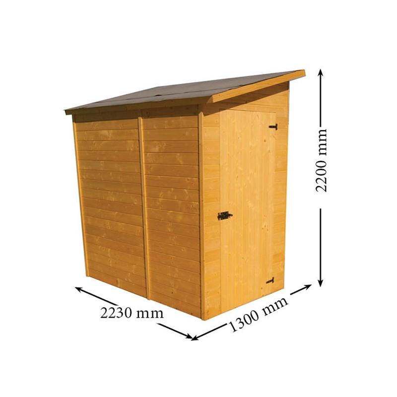 Casetta da giardino in legno 120x200x220 h eden 1220 for Brico arredo agrigento