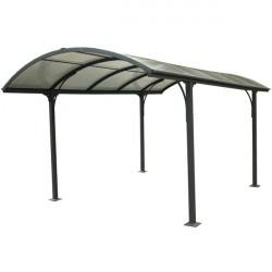 """Tettoia in alluminio e policarbonato 485x305x250 h """"CARPORT 3048 """" - FORESTA CAR 3048 ALRP"""