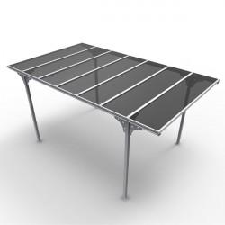 """Tettoia in alluminio e policarbonato 294x500x232 h """"CARPORT 3050 """" - FORESTA CAR 3050 ALTP"""