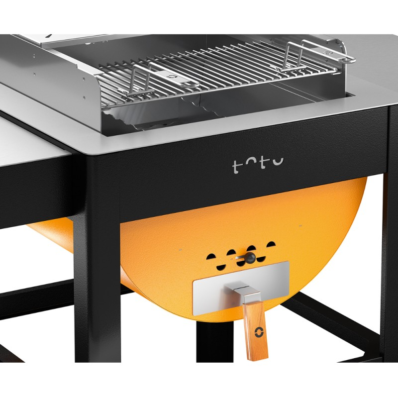 barbecue toto grill in acciaio inox alfa refrattari. Black Bedroom Furniture Sets. Home Design Ideas