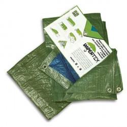Telo impermeabile occhiellato verde in nylon - 2 x 3 metri - 80 g. al m²