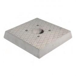 Base in granito H. 5 x L. 30 x P. 30 cm - BEL FER 42/BSC/1