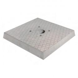 Base in cemento H. 5 x L. 40 x P. 40 cm - BEL FER 42/BSC/2