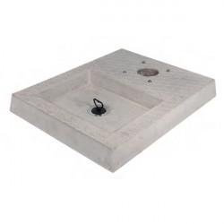 Base in cemento con vaschetta H. 5 x L. 50 x P. 40 cm - BEL FER 42/BSC/4
