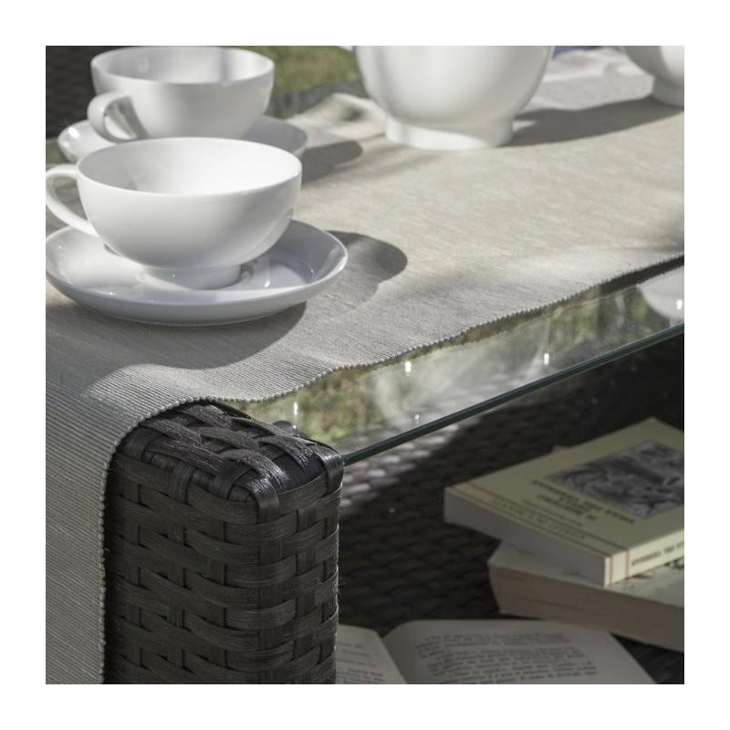 Salotto da giardino set lipari 2 poltrone tavolo divano for Tavolo da divano