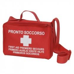 Kit Pronto Soccorso PVS MIZAR Borsa in Nylon rossa con cerniera (fino a 2 Lavoratori) - CPS064