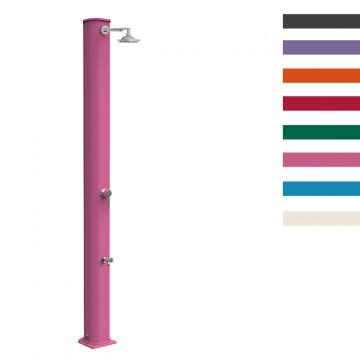 """Doccia Solare in Alluminio """"Big Jolly con Lavapiedi"""" - 40 Litri -Disponibile in 8 colori - ARKEMA A 320"""