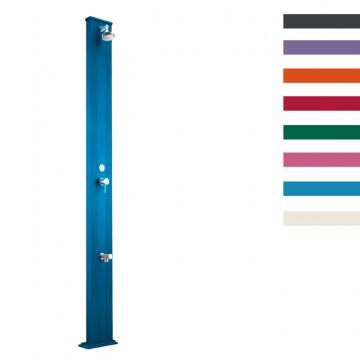 """Doccia Solare in Alluminio """"Spring S con Lavapiedi"""" - 30 Litri - Disponibile in 9 colori - ARKEMA A 220"""