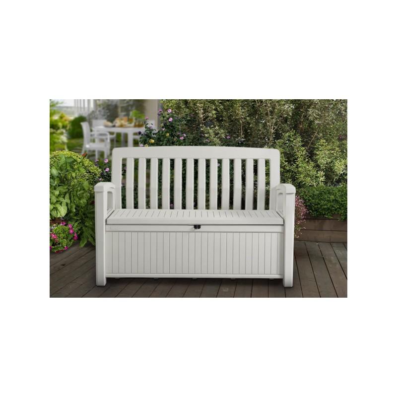 cassapanca resina keter patio storage bench bianca