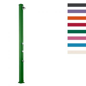 """Doccia Solare in Alluminio """"Jolly S con Temporizzatore Miscelatore Lavapiedi"""" - 25 Litri -Disponibile in 9 colori - ARKEMA A 630"""