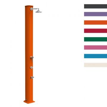 """Doccia Solare in Alluminio """"Big Jolly Miscelatore Temporizzatore Lavapiedi"""" - 40 Litri - Disponibile in 8 colori - ARKEMA A 330"""