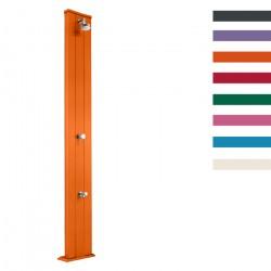 """Doccia Solare in Alluminio """"Dada S con Lavapiedi"""" - 40 Litri - Disponibile in 10 colori - ARKEMA D 420"""