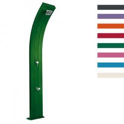 """Doccia Solare in Alluminio """"Dada con Lavapiedi"""" - 40 Litri - Disponibile in 9 colori - ARKEMA A 320"""