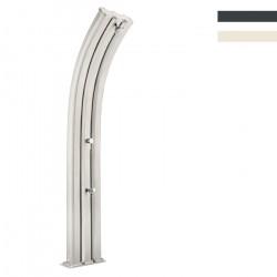 """Doccia Solare in Alluminio """"Energy Pro con Lavapiedi"""" - 75 Litri - Disponibile in 2 colori - ARKEMA A 920"""