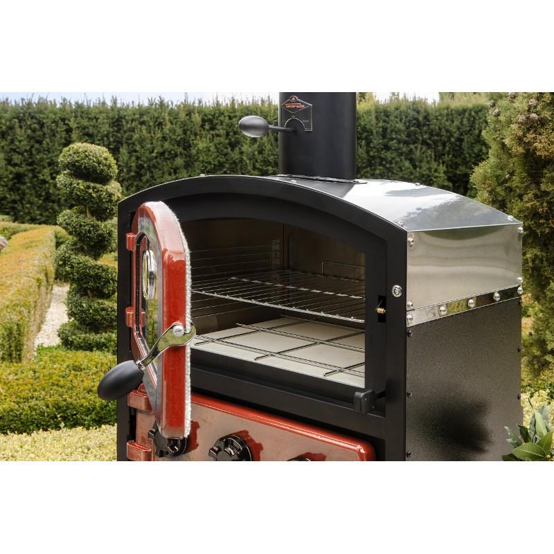 Forno legna fornetto alto giardino affumicatore fornetto - Barbecue da giardino a legna ...