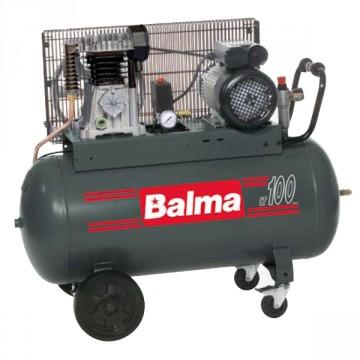 Compressore elettrico monostadio con trasmissione a cinghia 100 litri BALMA NS12S/100 CM2 PROFESSIONAL con ruote