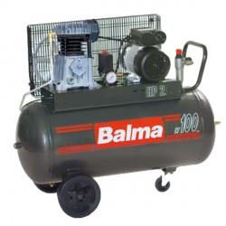 Compressore elettrico monostadio con trasmissione a cinghia Serbatoio 100 litri BALMA NS12/100 CM2 con ruote