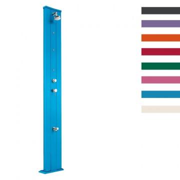 """Doccia Solare in Alluminio """"Dada S con Nebulizzatori e Lavapiedi"""" - 40 Litri - Disponibile in 9 colori - ARKEMA D 450"""