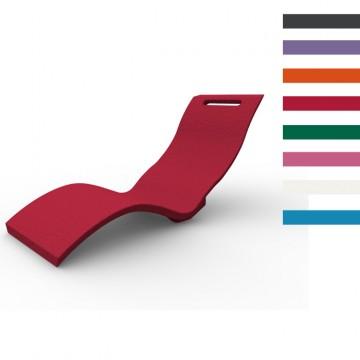 Sdraio Chaise Longue in Polietilene SERENDIPITY ® CHAISE DA TERRA - Disponibile in 8 colori - Arkema S 100