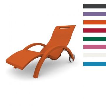 Sdraio Chaise Longue in Polietilene SERENDIPITY ® CHAISE DA ESTERNO - Disponibile in 8 colori - Arkema S 110