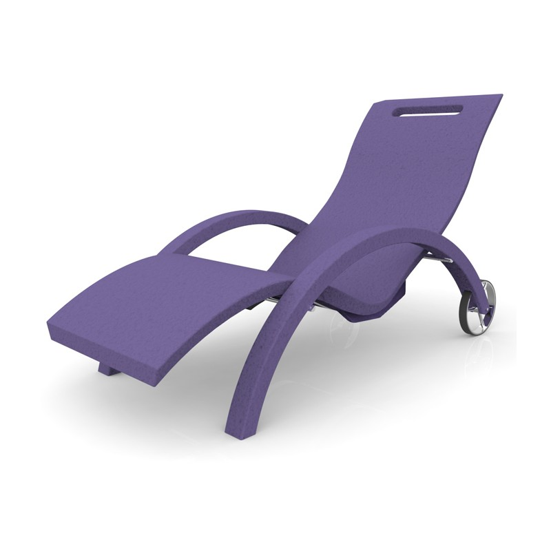 Sdraio chaise longue in polietilene serendipity chaise - Chaise longue da esterno ...