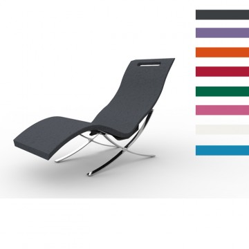 Sdraio Chaise Longue in Polietilene SERENDIPITY ® CHAISE INTERNO - Disponibile in 8 colori - Arkema S 120