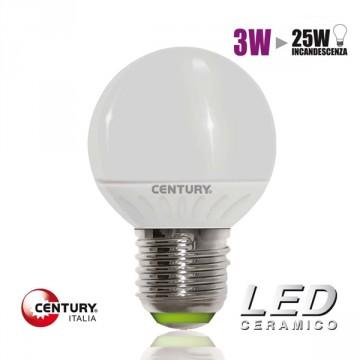 "Lampadina LED CENTURY ""Globo Micro"" 3W - E27- 2700K - CLXH1G-032727"