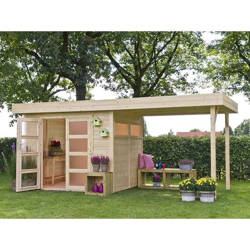 Casetta giardino legno 303x245x188 h vermont garten - Tettoia giardino ...