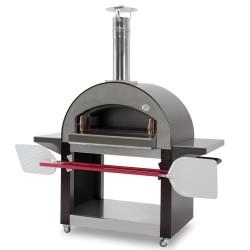 Forno a legna 4 mori senza base in acciaio inox for Forno a legna 4 pizze