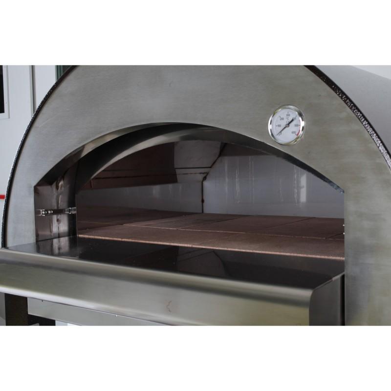 Forno a legna 4 mori in acciaio inox capacita 4 pizze - Forno a legna in acciaio prezzi ...