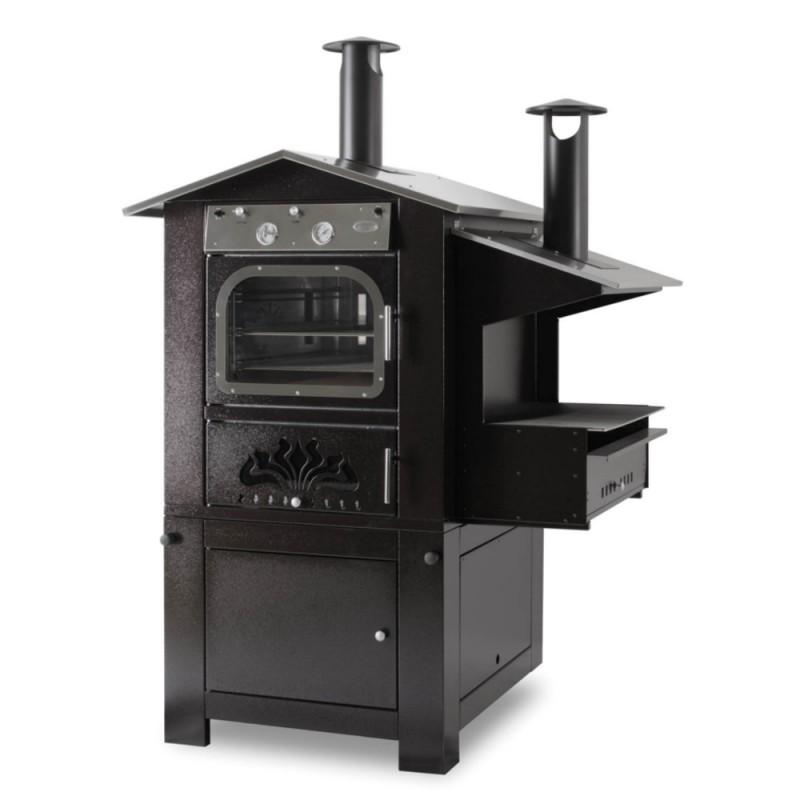 Forno a legna cottura indiretta aragona in acciaio inox - Forno a legna in casa ...