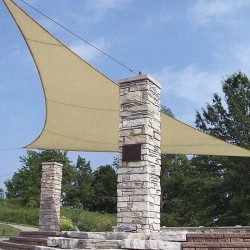 Tenda vela triangolare elevata densità con anelli in acciaio 5x5x5 m - VERDELOOK 824/6