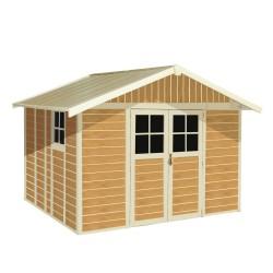 Casetta da Giardino Sherwood 11 m² - con colorazione simile al legno -