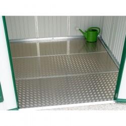 """Pavimentazione in alluminio bugnato 79,5 x 69,5 cm - Biohort - Accessorio per Armadio attrezzi """"misura 93 x 83 x 182,5 cm"""""""
