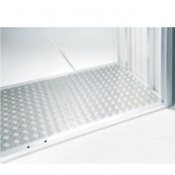 """Pavimentazione in alluminio bugnato 141,5 x 69,5 cm - BIOHORT pavimentazione - Accessorio per WoodStock """"misure 150"""""""