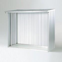 """Parete posteriore in alluminio bugnato 217,5 x 196,5 cm - BIOHORT parete - Accessorio per WoodStock """"misure 230"""""""