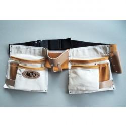 Cinturone Da Posatore In Tessuto Antistrappo Con 10 Comparti - AKIFIX NE10003