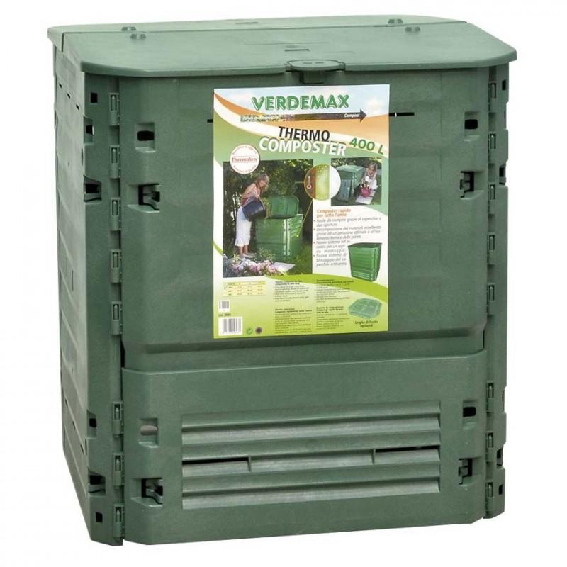 Compostiera thermo king 600 litri verdemax 2894 for Compostiera da giardino