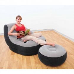 Poltrona lounge cm 99x130x76 con Poggia Piedi cm 64x28 - INTEX 68564