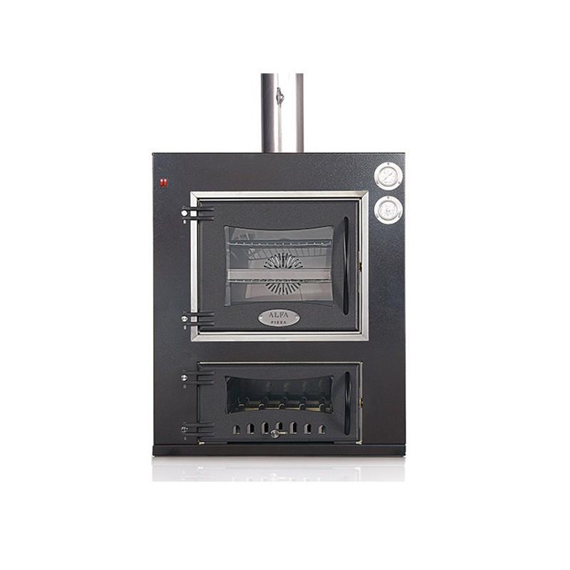 Forno a legna cottura indiretta aragona in acciaio inox for Tempo cottura pizza forno ventilato
