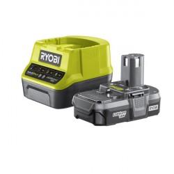 Kit batteria e caricabatteria 18V Ioni di Litio 1,3 Ah RYOBI - RC18120-113