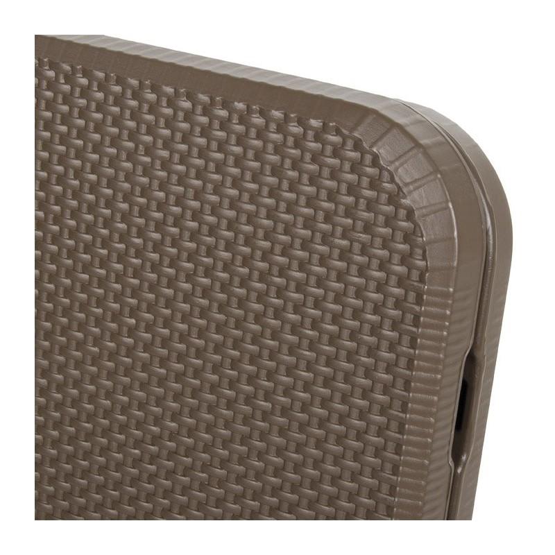 Tavolo pieghevole marrone con struttura in acciaio 180x75x74 cm verdelook 2360 19 mollostore - Tavolo pieghevole con maniglia ...