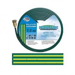 Manichetta Verde a 3 Vie Microforata per Irrigazione 7,5 m Raccordi in Ottone - PLUVIO
