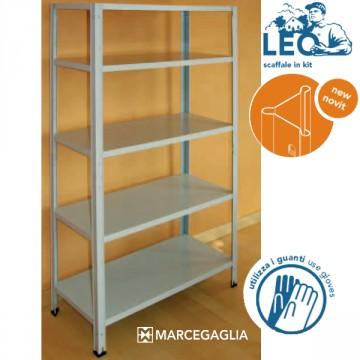 Scaffale in Kit in Acciaio Zincato ad incastro 5 Piani MARCEGAGLIA - LEO4L