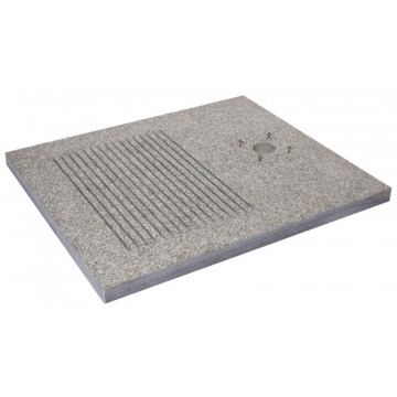 Base in granito per doccia H. 4 x L. 70 x P. 80 cm - BEL FER 42/BSD