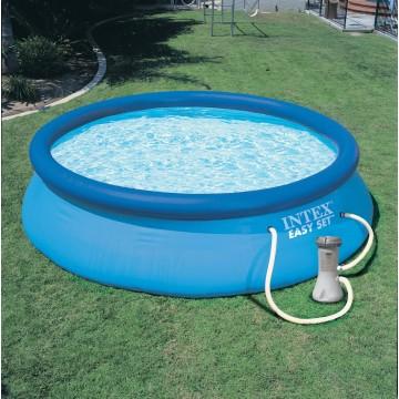 piscina gonfiabile rotonda fuoriterra easy set cm 366x76 con pompa filtro intex 28132 mollostore. Black Bedroom Furniture Sets. Home Design Ideas