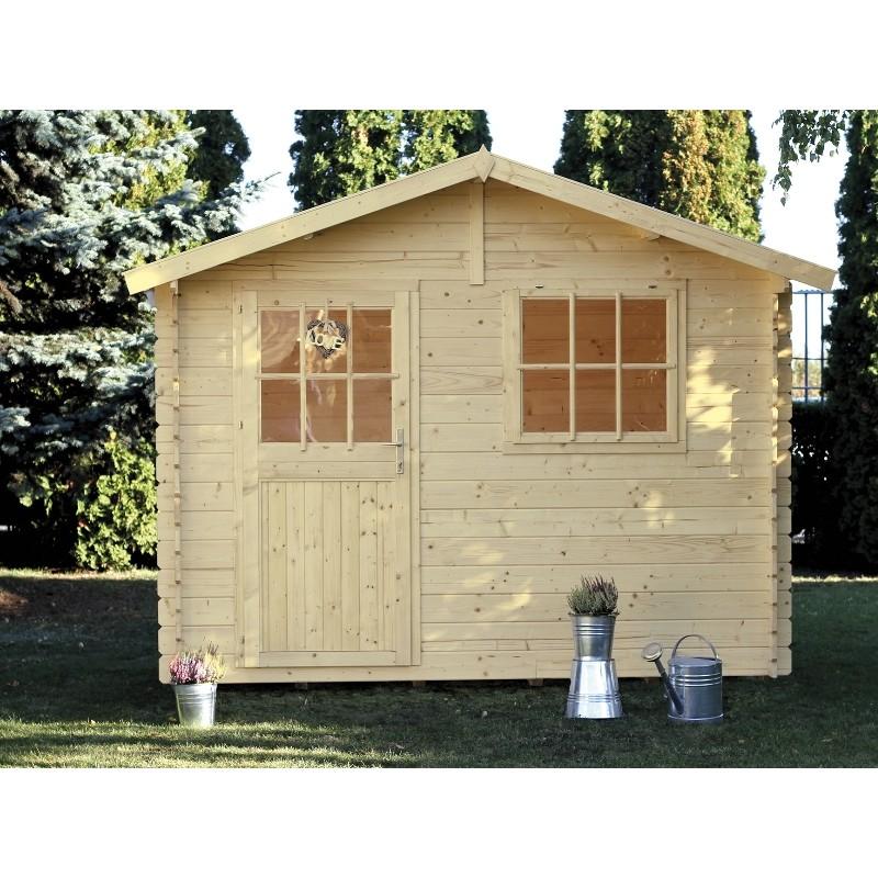 Casetta da giardino in legno 344x252x244 h paola for Casette in legno obi