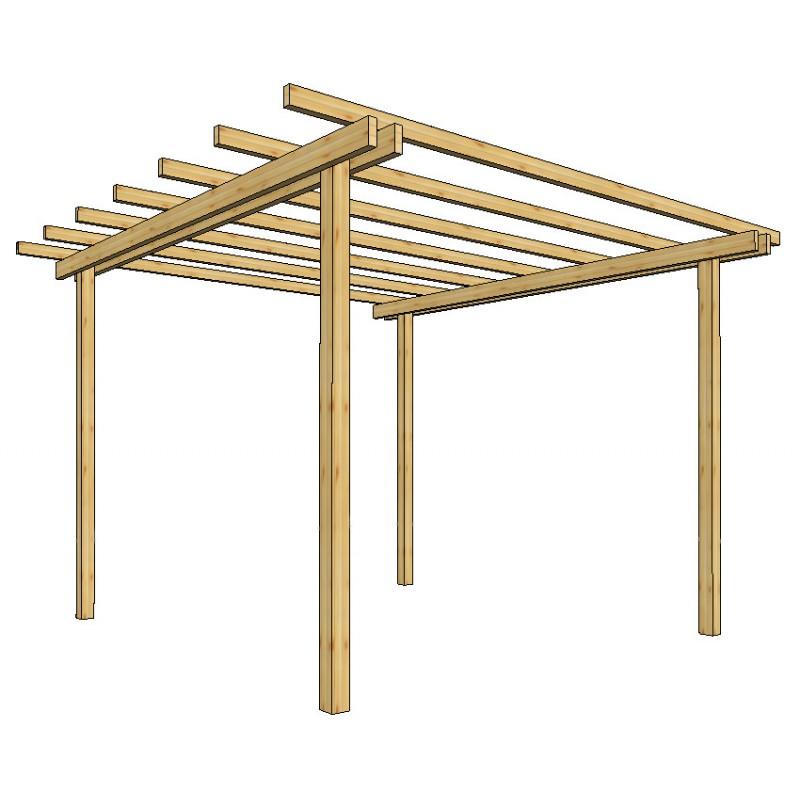 Pergola da giardino 240x240xh240 in legno losa legnami - Pergola da giardino ...
